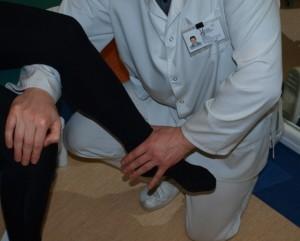 Šoninio plačiojo raumens testavimas